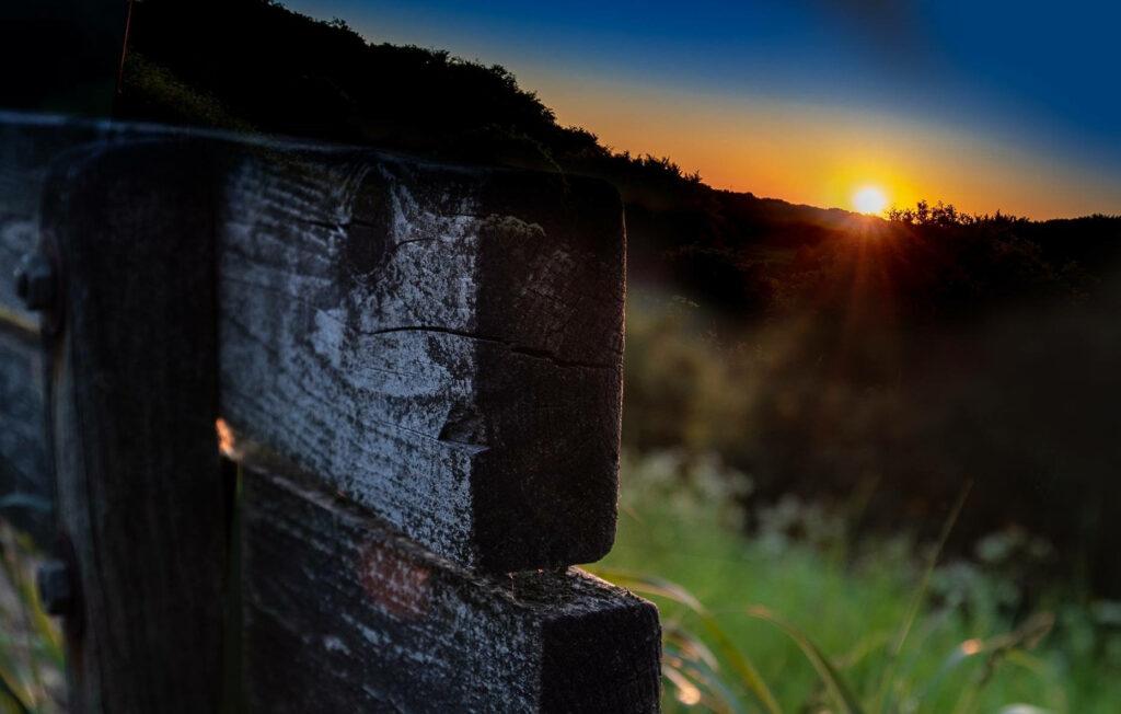 Solnedgang i Almind